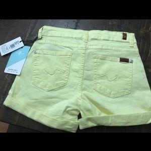 Girls 7 For All Mankind Soft Denim Shorts Size 14
